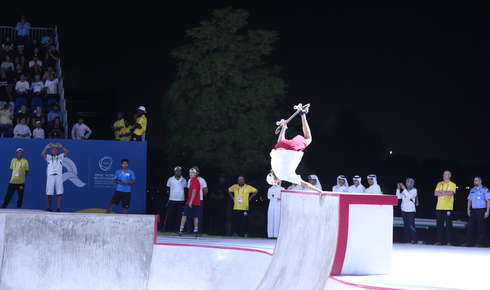 Skateboard-Action an Tag 4 der ANOC World Beach Games